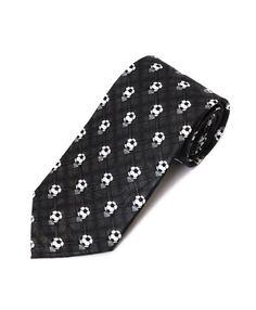 Men's Black Soccer Balls Sports Necktie Neck Tie Neckwear  http://www.yourneckties.com/mens-black-soccer-balls-sports-necktie-neck-tie-neckwear/