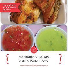 Marinado y Salsas Estilo Pollo Loco  | Intercambio De Recetas