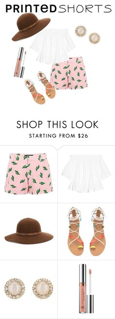 """Summer Shorts"" by kourtneymary on Polyvore featuring American Retro, Elizabeth and James, Kathy Jeanne, Kate Spade, Anastasia Beverly Hills and printedshorts"