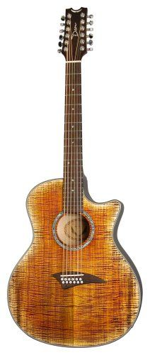 Dean Exotica 12-String Acoustic-Electric Cutaway Guitar with Tuner Preamp, Tiger Eye