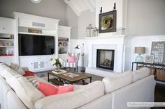 Paint can be tricky! Today I& sharing my favorite grey paint and all of the paint colors throughout my house. I hope this helps you find the perfect color! Home Living Room, Living Room Decor, Living Spaces, Living Area, Home Design Decor, House Design, Interior Design, Home Decor, Design Design