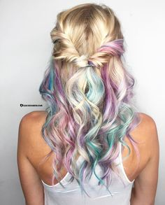 Rosa Haare 2019 - 2019 Optimal Power Flow Exotic Hair Color Ideas for Hot and Chic Celebrity Hairs. Exotic Hair Color, Cool Hair Color, Hair Colors, Blonde Hair With Color, Purple Hair, Cabelo Rose Gold, Pulp Riot Hair Color, Mermaid Hair, Mermaid Makeup