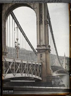 A regi Erzsebet hid Old Pictures, Old Photos, Historical Architecture, Vintage Architecture, George Washington Bridge, Budapest Hungary, Brooklyn Bridge, The Past, To Go