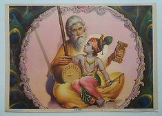 Indian Vintage Mythological Hindu Gods Litho Print- Bhakt Surdas,size-10X14 Inch