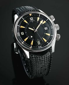 Jaeger LeCoultre Polaris. The Memovox for divers.....If it was not so beautiful on the trop I would be wondering who thought of something like that..;)