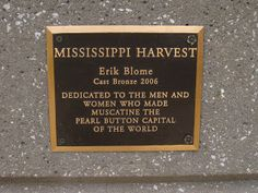 Button Floozies: Did You Know . That Muscatine, Iowa is the pearl button capital of the world? A quaint little town that sits on the Mississippi River on the Illinois border. Muscatine Iowa, Button Crafts, Vintage Buttons, Craft Work, Mississippi, Did You Know, Illinois, Letter Board, It Cast