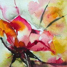 Petit instant N°325 - Painting,  10x10 cm ©2015 par Véronique Piaser-Moyen -  Peinture