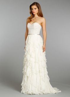 5648a7645948 Fall 2013 Bridal Gowns, Wedding Dresses by Jim Hjelm - Style jh8353 - Ivory  Silk