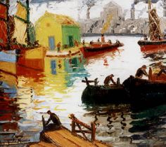 Benito Quinquela Martín (March 1890 – January Argentinian artist considered the port painter-par-excellence. Art Painting Gallery, Art Gallery, Artist Quotes, Ship Art, Heart Art, American Artists, Impressionist, South America, Doge