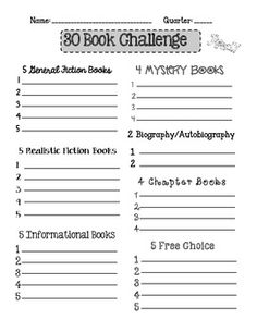 Book Challenge Reading Logs {Freebie as of 7/29/13} - neat idea and a good spin off from regular reading logs