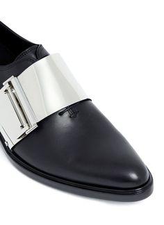 ca2ea7bd11e FootGift chaussure homme noire en cuir avec boucles bout pointu EU43   Amazon.fr  Chaussures et Sacs