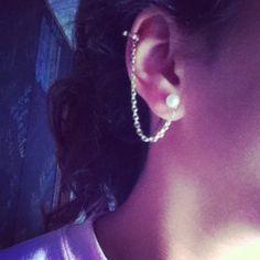 DIY ear cuff piercing ! :)