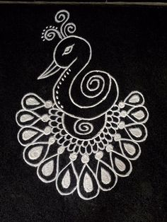 Favone for earring Rangoli Designs Flower, Small Rangoli Design, Rangoli Designs Diwali, Rangoli Designs Images, Kolam Rangoli, Beautiful Rangoli Designs, Mehandi Designs, Indian Rangoli, Rangoli Borders