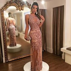 Vestido de festa para baile de formatura e vestido de festa madrinha de casamento Lavender Prom Dresses, Elegant Prom Dresses, Prom Dresses 2018, Beautiful Prom Dresses, Mermaid Prom Dresses, Cheap Prom Dresses, Modest Dresses, Evening Dresses, Dress Prom