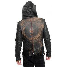 "Men's JUNKER DESIGNS - ""DELUXE"" Leather Hooded Jacket"