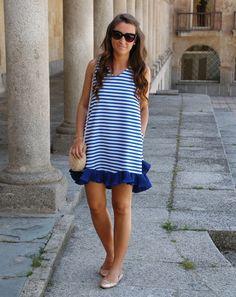 Entre Lazos y Vestidos: Look navy vestido