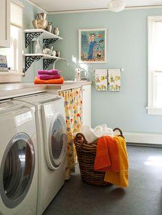wall colors, laundry room storage, dream, room colors, decorating ideas, laundry rooms, paint colors, shelv, laundri room