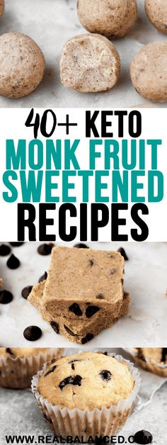 Monk Fruit Sweetener is a delicious, zero calorie, and net-carb-free way to sweeten your keto and low-carb desserts! Check out this list of over 40 recipes that use monk fruit sweetener for ideas on how to incorporate it into your cooking! Healthy Fruit Desserts, Keto Fruit, Low Carb Desserts, Fruit Recipes, Low Carb Recipes, Real Food Recipes, Dessert Recipes, Recipes With Monk Fruit Sweetener, Diabetic Snacks
