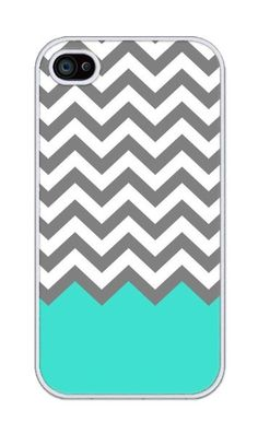 Chevron Pattern Turquoise Grey White Plastic For iphone 4 4s case:Amazon:Cell Phones & Accessories