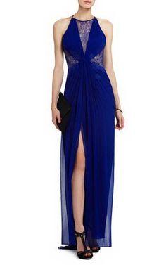 Bcbg Maxine Evening Gown Royal BlueOutlet