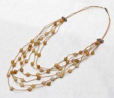 Yellow Jade Bib Necklace