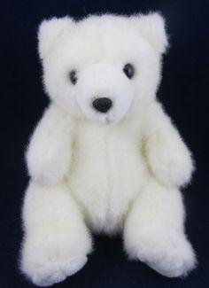 Russ Snowflake White Plush Stuffed Teddy Bear Animal Adorable Soft | eBay