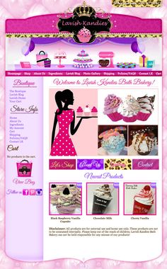 We were contacted by Brandi of Lavish Kandies Bath Bakery, and she was very interested in our Blush Bakery Premade Design. She asked if we could incorporate leopard and her logo into her design, we told her that is exactly what we offer with our 'Candy Coated' special and we were off to design her premade template with a custom touch to make it her own!  http://lavishkandies.com/