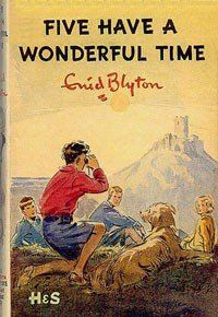 Five Have a Wonderful Time by Enid Blyton  En français : Le club des cinq #cover book