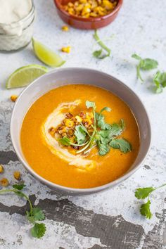 Quick simple and comforting this Vegan Corn Chowder is creamy without all the fat and packed full of veggies for a delicious and satisfying meal. Make sure to buy organic corn.NO GMOs. Corn Chowder Soup, Vegan Corn Chowder, Chowder Recipe, Vegan Soups, Vegan Dishes, Vegan Food, Vegan Meals, Sweet Potato Hummus, Best Vegetarian Recipes