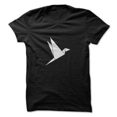 Paper Bird Origami T Shirts, Hoodies. Get it here ==► https://www.sunfrog.com/Geek-Tech/Paper-Bird--Origami.html?57074 $19
