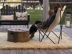 Idée déco terrasse hiver Butterfly Chair, Outdoor Living, Orient, House Styles, Inspiration, Coin, Villas, Parfait, Furniture