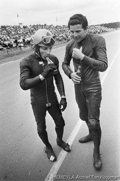 Assen 1968 Bill Ivy - Phil Read....et du Coca..Cola