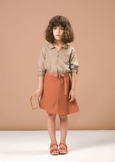 Alkanet Shirt, Warm Taupe, 10y by Caramel Baby & Child | Caramel Baby & Child