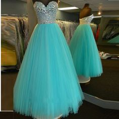 Sexy Party Dress Sweetheart Rhinestone Bodice Ball Gown Evening Prom Dress