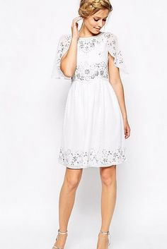 This dreamy, feminine frock courtesy of Asos. | 21 Gorgeous Cape Dresses You Can Buy Online Right Now