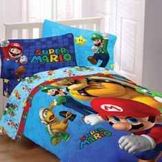 Super Mario Fresh Look Reversible Bedding Comforter
