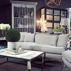 Arya Canape 3.5 Seater Sofa - Weathered Oak with cream upholstery