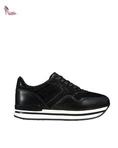 HOGAN FEMME HXW2220M46775QB999 NOIR CUIR BASKETS - Chaussures hogan (*Partner-Link)