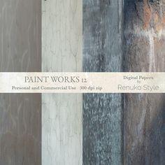 Paint Works 12 Digital Backgrounds by Renuko Style on Creative Market