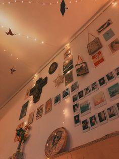 Fairy lights and Polaroids   #fairylights #polaroids #golden #film #homemadehome #diyinterior