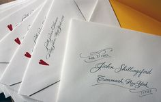 Kristen and Thomas: hand-calligraphed envelopes by Calligraphy by Cathy!