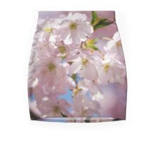 Spring Pink blossom branch Mini Skirt apparel by #PLdesign #FlowerGift #style #fashion @redbubble