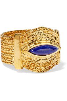 AURÉLIE BIDERMANN SUNSET GOLD-PLATED LAPIS LAZULI RING $173.25 http://www.theoutnet.com/product/722959