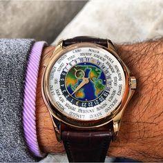 Patek Philippe World Time 5131R on the wrist of @PedroBoue
