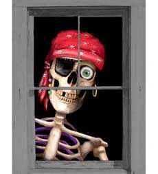 Pirate window poster sold by Plow and Hearth
