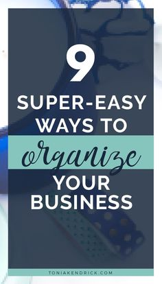 Do you struggle to keep your business organized? Here are 9 easy tips to organize your business. From organizing your small business office to apps and tools, you'll find easy ideas to help you get organized. Business Credit Cards, Business Money, Business Goals, Business Entrepreneur, Business Planning, Business Ideas, Small Business Organization, Finance Organization, Organizing