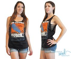 sweet diy tank top. totally gonna do this with one of my old band tees