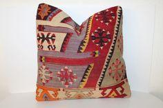 16x16 Kilim Pillow, Vintage Pillows, 40x40 cm