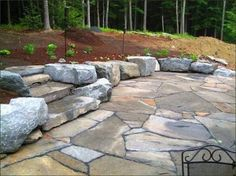 Patio And Stone Wall By Steven Breed Garden Designs Using