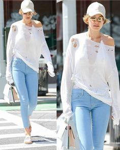 July 24: Gigi Hadid out on the streets of NYC